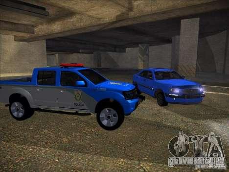 Nissan Frontier PMERJ для GTA San Andreas вид слева