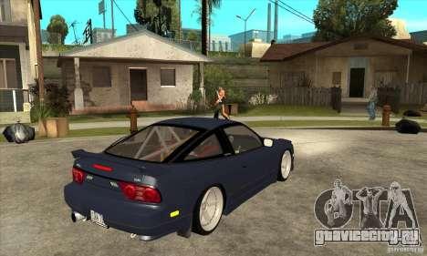 Nissan 180SX Turbo JDM для GTA San Andreas вид справа