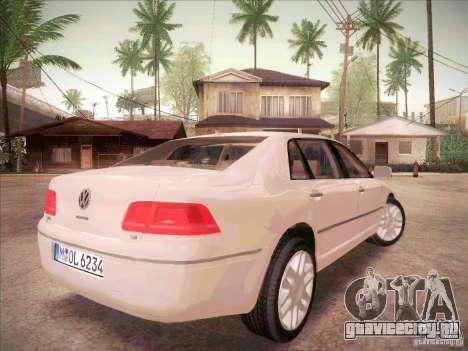 Volkswagen Phaeton 2011 для GTA San Andreas вид сзади слева