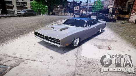 Dodge Charger RT 1969 tun v1.1 лоу райд для GTA 4
