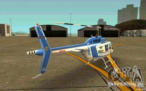 Bell 206 B Police texture1 для GTA San Andreas вид справа