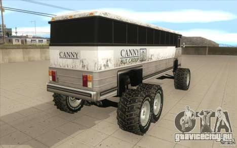 Bus monster [Beta] для GTA San Andreas вид сзади слева