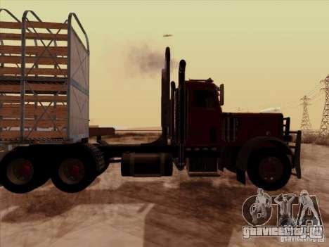 Peterbilt 359 Day Cab для GTA San Andreas вид справа