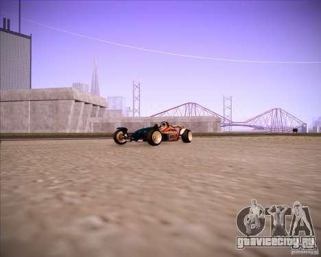 Track Mania Stadium Car для GTA San Andreas вид сзади слева