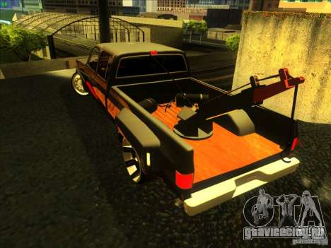 Chevrolet Silverado Towtruck для GTA San Andreas вид сзади слева