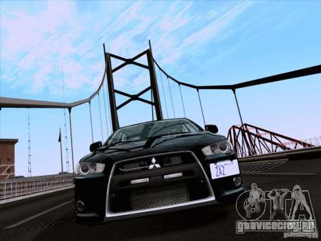 Mitsubishi Lancer Evolution X 2008 для GTA San Andreas вид слева