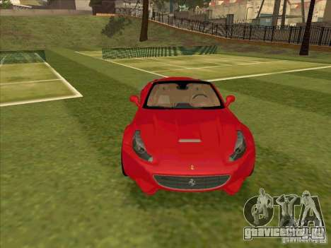 Ferrari California для GTA San Andreas вид сзади