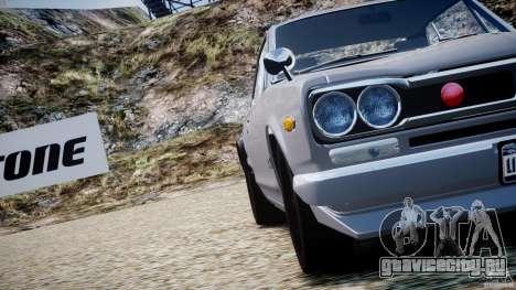 Nissan Skyline 2000 GT-R для GTA 4 двигатель