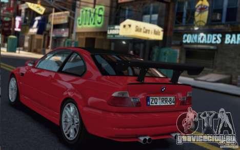 BMW M3 Street Version e46 для GTA 4 вид сзади слева