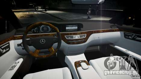 Mercedes Benz w221 s500 v1.0 sl 65 amg wheels для GTA 4 вид справа