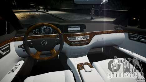 Mercedes Benz w221 s500 v1.0 sl 65 amg wheels для GTA 4 вид справа