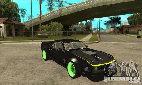 Ford Mustang RTR-X 1969 для GTA San Andreas вид сбоку
