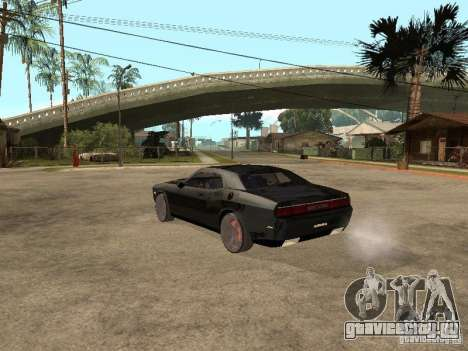 Dodge Challenger для GTA San Andreas вид сзади