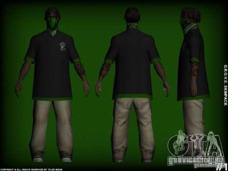 G.R.O.V.E. Skinpack для GTA San Andreas второй скриншот