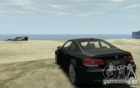 BMW M3 E92 2008 для GTA 4 вид сзади слева