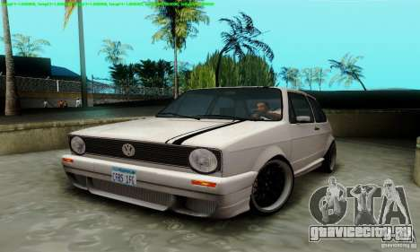 VolksWagen Golf LS для GTA San Andreas вид изнутри