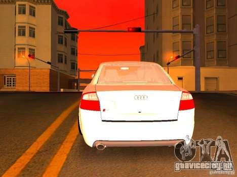 Audi S4 OEM для GTA San Andreas салон