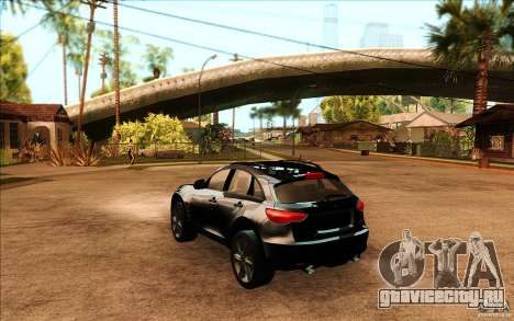 Infiniti FX50 Beta для GTA San Andreas вид сзади слева