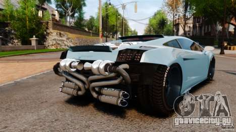 Lamborghini Gallardo Twin Turbo Kit для GTA 4 вид сзади слева