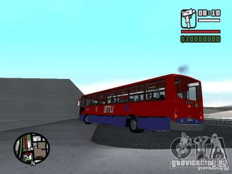 Busscar Urbanuss Pluss VW 17-230 EOD Alongado для GTA San Andreas вид сзади слева
