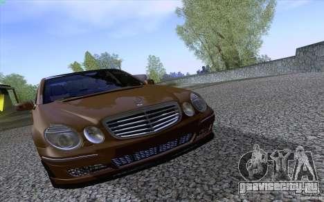 Mercedes-Benz E55 AMG для GTA San Andreas вид изнутри