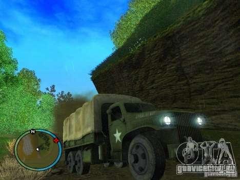 Millitary Truck from Mafia II для GTA San Andreas вид сзади
