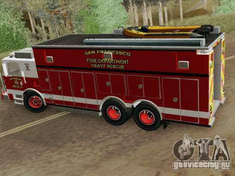 Pierce Walk-in SFFD Heavy Rescue для GTA San Andreas вид сбоку
