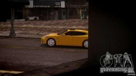 Porsche Panamera Turbo S для GTA 4 вид слева