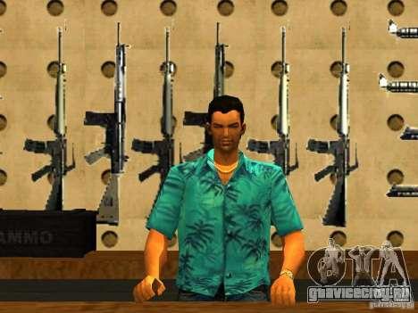 Tommy Vercetti в AMMU-NATION для GTA San Andreas второй скриншот