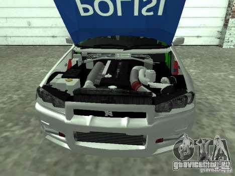 Nissan Skyline Indonesia Police для GTA San Andreas вид справа