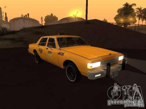 Chevrolet Caprice 1986 Taxi для GTA San Andreas