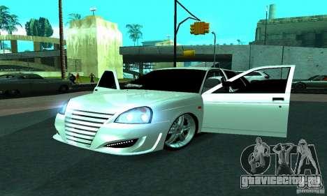 Lada Priora Sport для GTA San Andreas вид изнутри