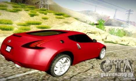 Nissan 370Z V2 для GTA San Andreas вид сзади