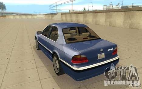 BMW 750iL 1995 для GTA San Andreas вид сзади слева