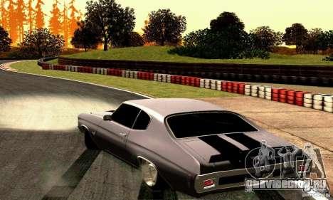 Chevrolet Chevelle 1970 для GTA San Andreas вид сзади слева