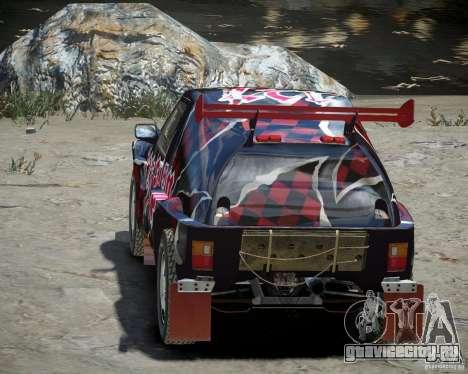 Mitsubishi Pajero Proto Dakar Винил 3 для GTA 4 вид сбоку