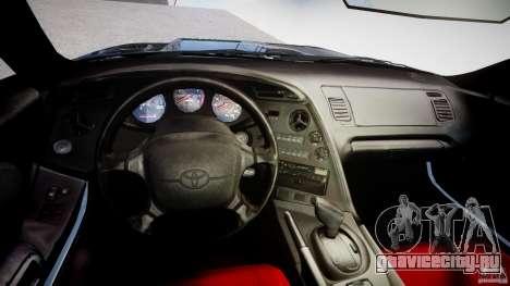 Toyota Supra JZA80 для GTA 4 вид справа