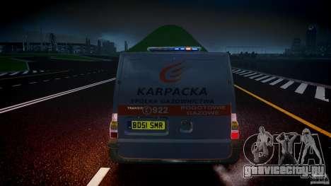 Ford Transit Usluga polski gazu [ELS] для GTA 4 салон