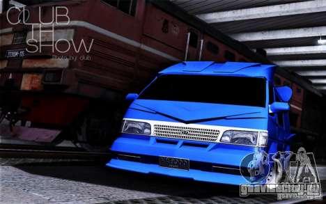 Toyota Hiace Vanning для GTA San Andreas вид сбоку