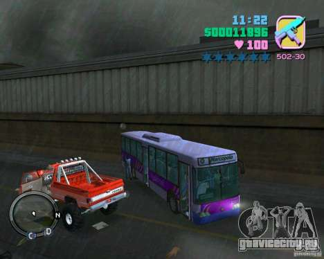 Marcopolo Bus для GTA Vice City вид изнутри