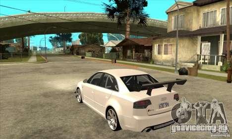 Audi RS4 2006 для GTA San Andreas вид сзади слева