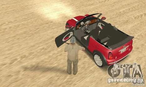 Mini Cooper Convertible для GTA San Andreas вид сзади