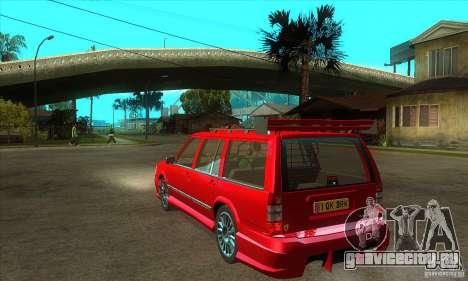 Volvo 945 Wentworth R with bodykit (1.2) для GTA San Andreas вид сзади слева