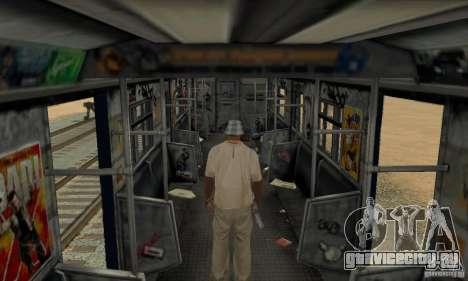 GTA IV Enterable Train для GTA San Andreas вид сбоку