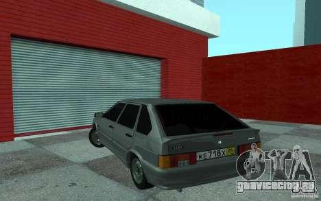 ВАЗ 2114 для GTA San Andreas вид сзади
