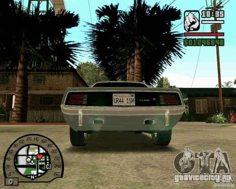 Plymouth Hemi Cuda 440 для GTA San Andreas вид сзади слева