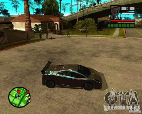 Lamborghini Gallardo Extreme Tuned для GTA San Andreas вид слева