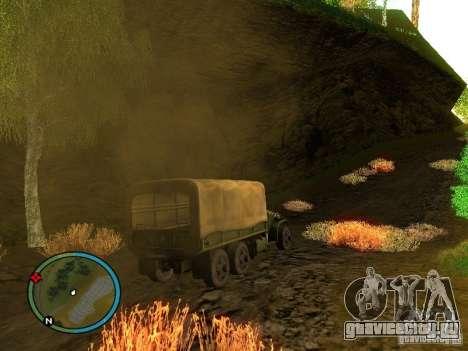 Millitary Truck from Mafia II для GTA San Andreas вид справа