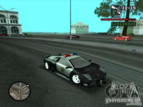 Lamborghini Murcielago Police для GTA San Andreas вид справа