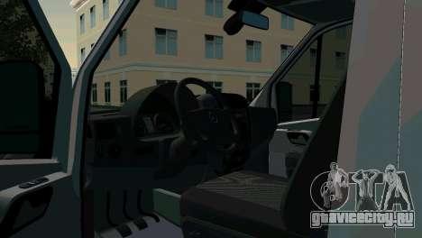 Mercedes-Benz Sprinter Реанимация для GTA San Andreas вид сзади слева